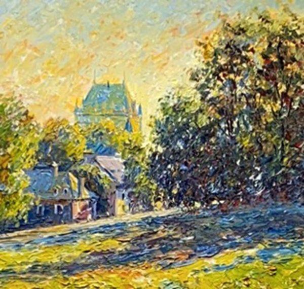 Château au matin Québec
