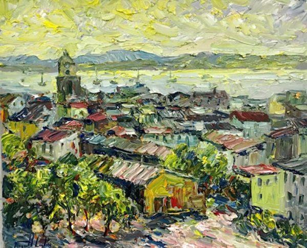 Contre jour a Saint Tropez Provence