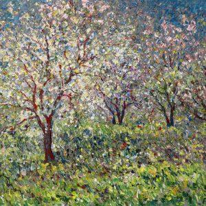 Les Pommiers et fleurs à sainte-famille île d'Orléans