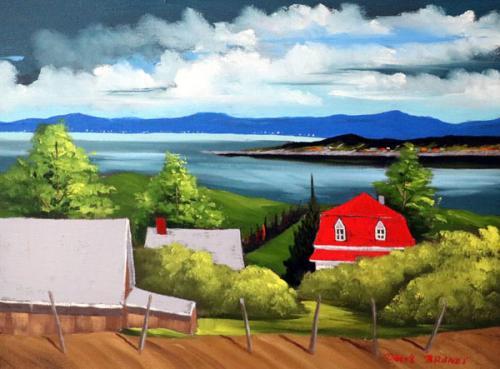 Red-House-Blue-Sky