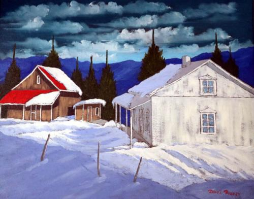 Red-Roof-House-with-Snow
