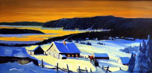 Sunset-in-Winter-Baie-Saint-Paul